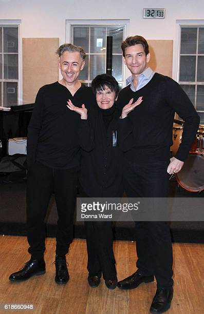Alan Cumming Chita Rivera and Andy Karl appear during the 'Chita Nowadays' Musical Sneak Peek at Michiko Studio on October 27 2016 in New York City