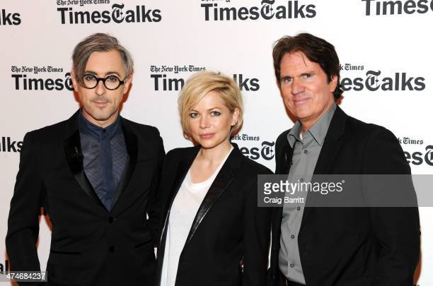 Alan Cumming Michelle Williams and Rob Marshall attend TimesTalk Presents An Evening With 'Cabaret' at The Times Center on February 24 2014 in New...