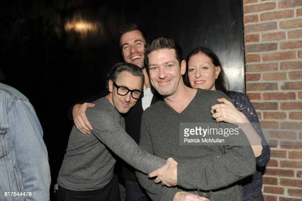 Alan Cumming Rob McGarry Eddie Roche and Lisa Raden attend VINCE and GOODS FOR GOOD Holiday Party with RUFUS WAINWRIGHT at Vince on December 21 2010...