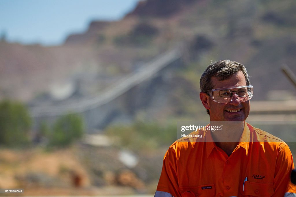Alan Davies, chief executive officer of diamonds and minerals at Rio Tinto Group, stands for a photograph during the opening ceremony of the company's underground expansion of the Argyle diamond mine in Kimberley, Australia, on Tuesday, April 30, 2013. Production at Argyle, which supplies more than 90 percent of the world's pink diamonds, will rise to 20 million carats annually as production moves underground, while costs will fall. Photographer: Ian Waldie/Bloomberg via Getty Images