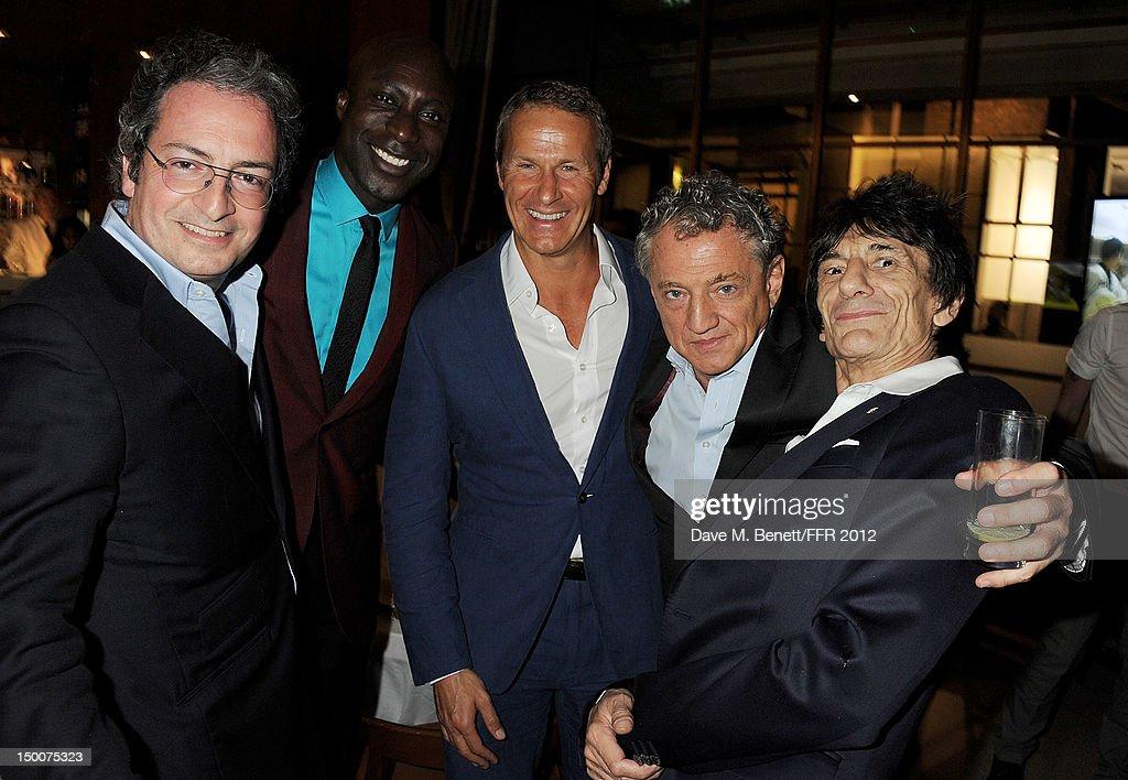 Alan Djanogly Ozwald Boateng Vladislav Doronin Carlos Almada and Ronnie Wood attend as Naomi Campbell hosts an Olympic Celebration Dinner in...