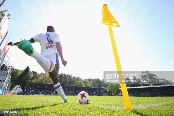 Alan Dzabana of Lyon kicks a corner kick during the Finale for the Blue Stars/FIFA Youth Cup 2017 between Olympique Lyon and RSC Anderlecht at day...