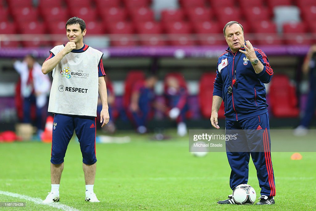 Russia Training and Press Conference - Group A: UEFA EURO 2012