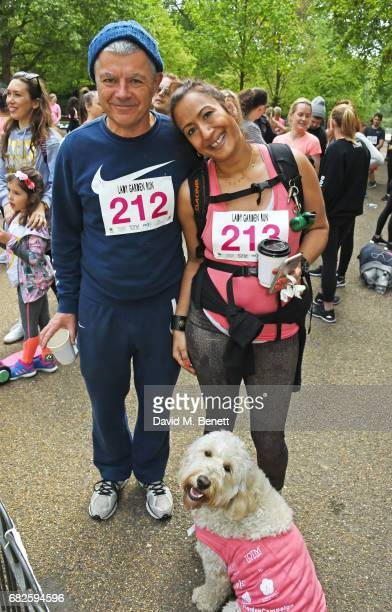 Alan Edwards and Dr Chandrima Biswas attend the Lady Garden 5K 10K Run in aid of Silent No More Gynaecological Cancer Fund in Hyde Park on May 13...