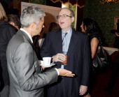 Alan Edwards and Microsoft cofounder Paul Allen attend the DNA Summit Innovation 101 Power Breakfast in the Cholmondeley Room Terrace at the House of...