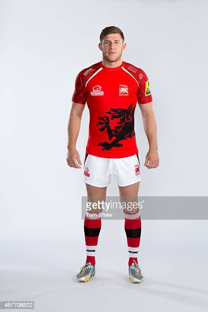 Alan Ewcock of London Welsh poses for a picture during the London Welsh Photocall at Old Deer Park on August 29 2014 in Richmond Upon Thames England
