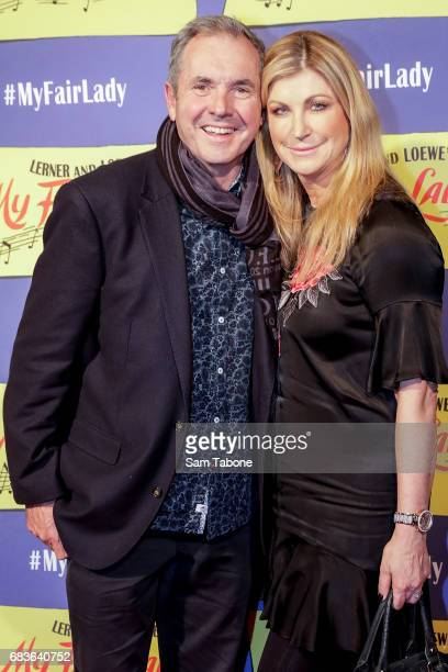 Alan Fletcher and Jennifer Hanson arrives ahead of opening night of My Fair Lady at Regent Theatre on May 16 2017 in Melbourne Australia