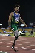 Alan Fonteles Cardoso Oliveiraof Brazil after the T44 200m Semifinal at Suhaim Bin Hamad Stadium on October 24 2015 in Doha Qatar