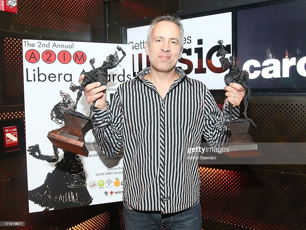 Alan Galbraith, GM of Wind-Up Records, poses for photos during 2nd Annual Libera Awards at Highline Ballroom on June 20, 2013 in New York City.