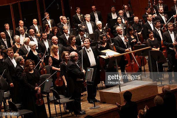 Alan Gilbert leading the New York Philharmonic in Stravinsky's 'The Rite of Spring' at Avery Fisher Hall on September 19 2012