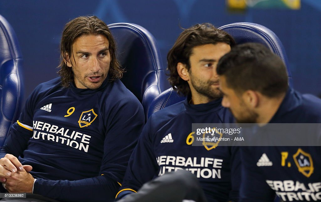 Alan Gordon of Los Angeles during the CONCACAF Champions League match between LA Galaxy and Santos Laguna at StubHub Center on February 24, 2016 in Carson, California.