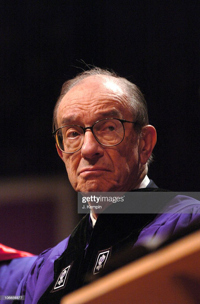 Alan Greenspan during Convocation in Honor of Alan Greenspan and Gordon Brown at New York University December 14 2005 at New York University in New...