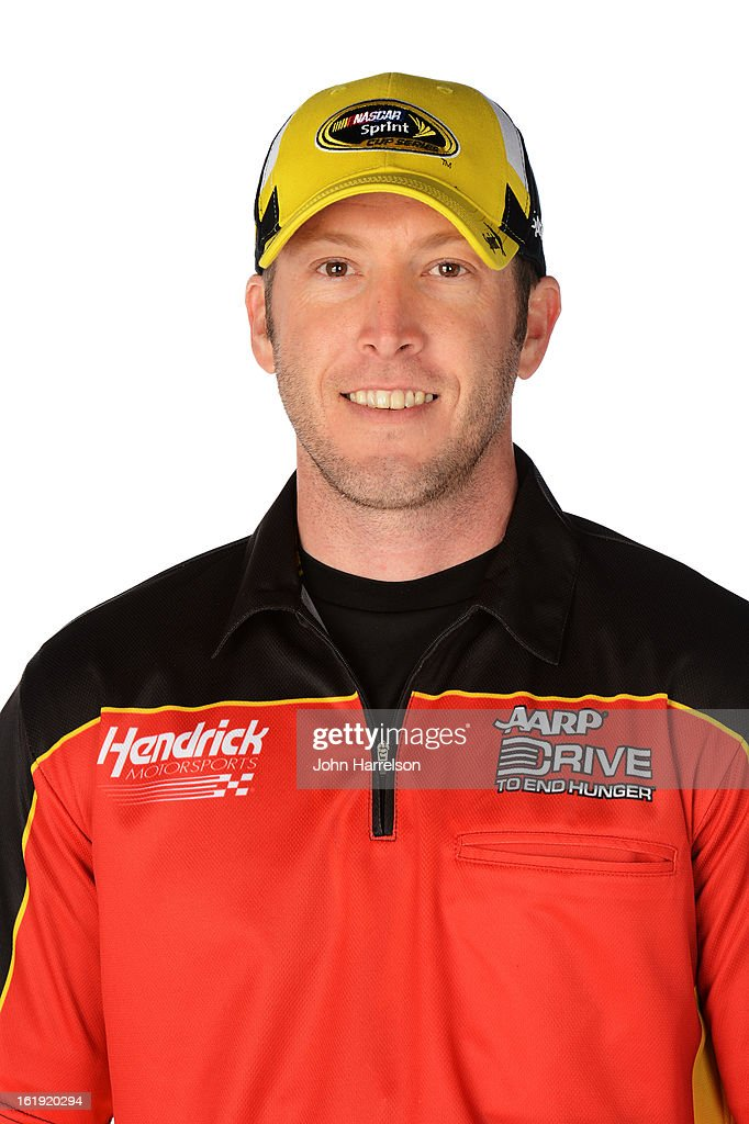 Alan Gustafson crew chief of Drive To End Hunger Chevrolet poses during portraits for the 2013 NASCAR Sprint Cup Series at Daytona International...