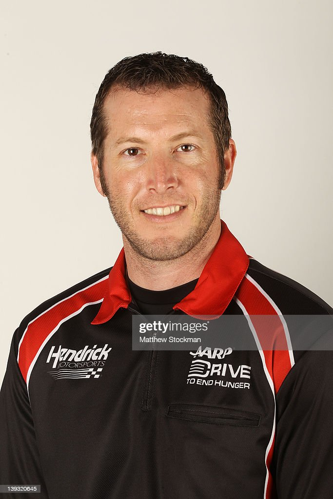 Alan Gustafson crew chief of the Drive to End Hunger Chevrolet poses during 2012 NASCAR Sprint Cup Series Crew Chief portraits at Daytona...