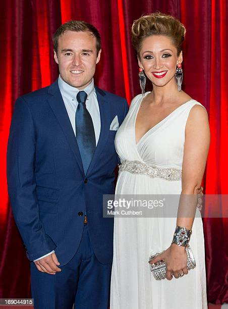 Alan Halsall and LucyJo Hudson attend the British Soap Awards at Media City on May 18 2013 in Manchester England