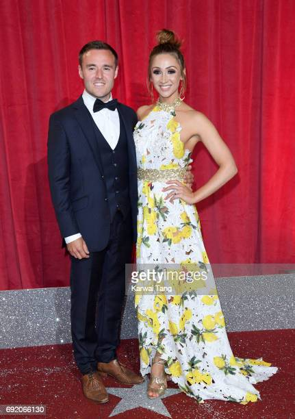 Alan Halsall and LucyJo Hudson attend the British Soap Awards at The Lowry Theatre on June 3 2017 in Manchester England