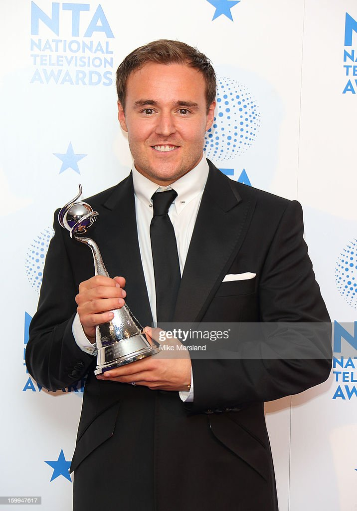 Alan Halsall poses in the winners room at the National Television Awards at 02 Arena on January 23, 2013 in London, England.