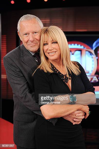Alan Hamel and Suzanne Somers Visit ET Canada to Promote her novel 'Knockout' at the ET Canada Studios on October 26 2009 in Toronto Canada