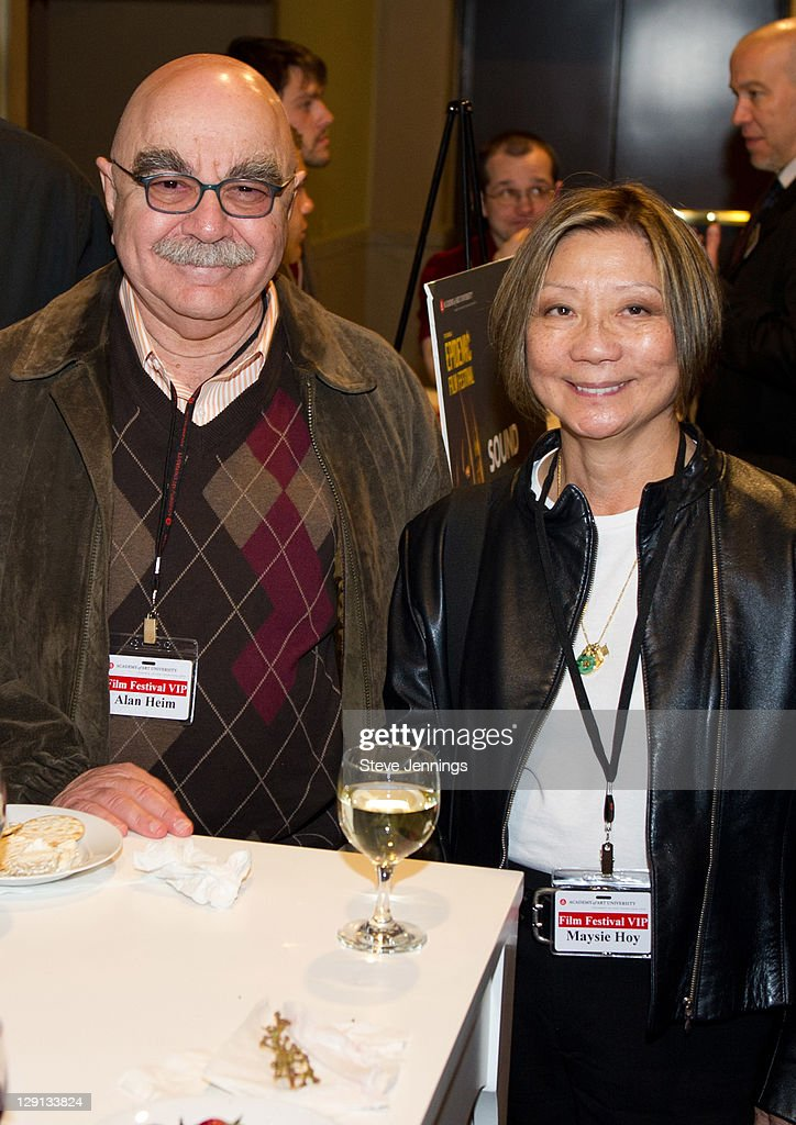 Alan Heim and Maysie Hoy attend the Academy of Art University 5th Annual Epidemic Film Festival at Golden Gate Theatre on May 6 2011 in San Francisco...
