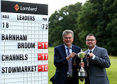 Alan Hemsley and Paul Dodman of Barnham Broom Golf Club pose for a photograph after winning the PGA National ProAm East Qualifier at Thetford Golf...