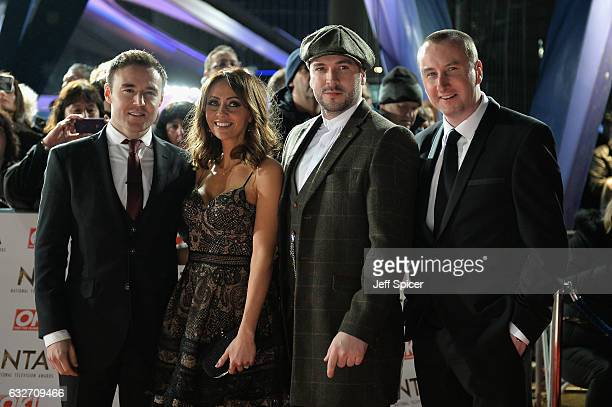 Alan Hulsall Samia Longchambon Shane Ward and Andy Whyment attends the National Television Awards on January 25 2017 in London United Kingdom