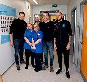 GBR: Aston Villa Visit Birmingham Children's Hospital