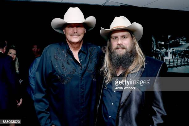 Alan Jackson and Chris Stapleton attend the 11th Annual ACM Honors at the Ryman Auditorium on August 23 2017 in Nashville Tennessee
