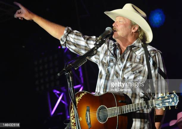 Alan Jackson performs at the 2012 BamaJam Music and Arts Festival Day 2 on BamaJam Farms in Enterprise Alabama on June 15 2012