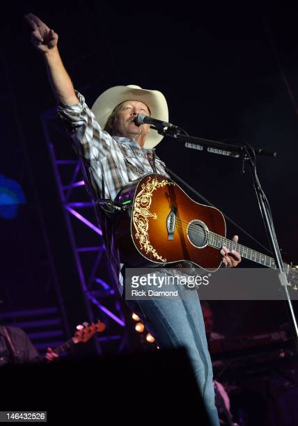 Alan Jackson performs at the 2012 BamaJam Music and Arts Festival Day 2 on BamaJam Farms in Enterprise Alabama on June 15 2012