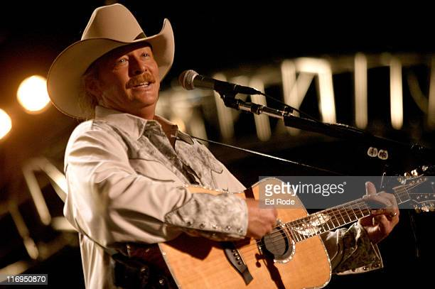 Alan Jackson performs at the nightly concert at The Coliseum on Sunday June 10 in Nashville during the 2005 CMA Music Festival