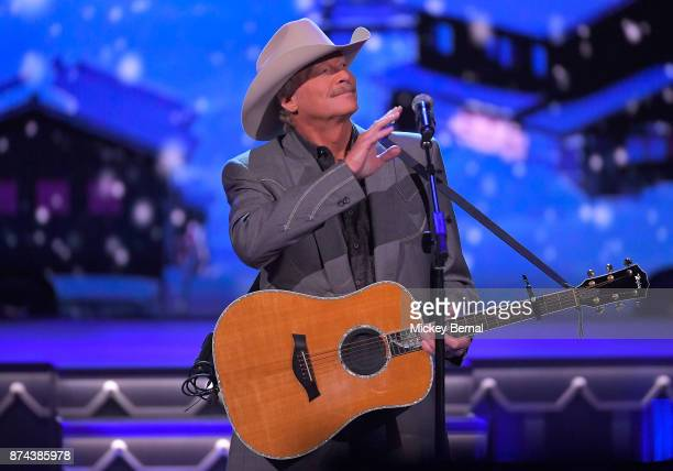 Alan Jackson performs during CMA 2017 Country Christmas at The Grand Ole Opry on November 14 2017 in Nashville Tennessee