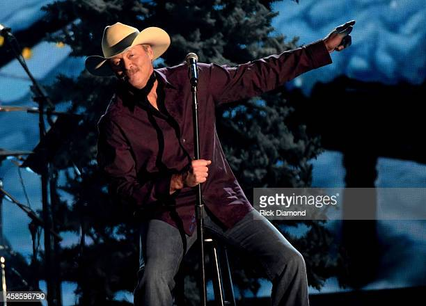 Alan Jackson performs during the CMA 2014 Country Christmas on November 7 2014 in Nashville Tennessee
