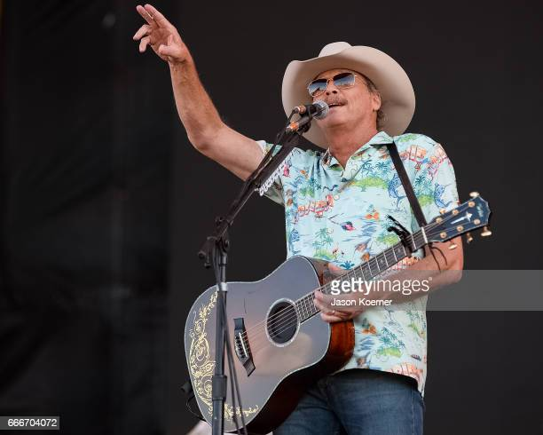 Alan Jackson performs on stage at Tortuga Music Festival on April 9 2017 in Fort Lauderdale Florida