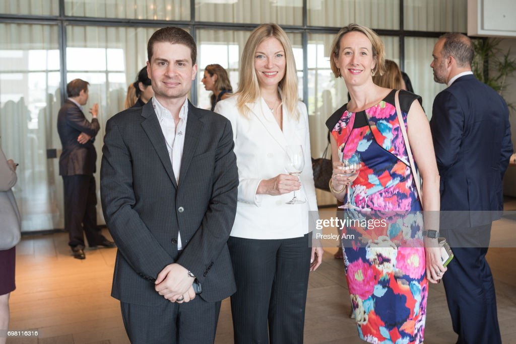Alan Jason Pepe, Elizabeth Persons and Kat Jordan attends Special Women's Power Lunch Hosted by Tina Brown at Spring Place on June 19, 2017 in New York City.