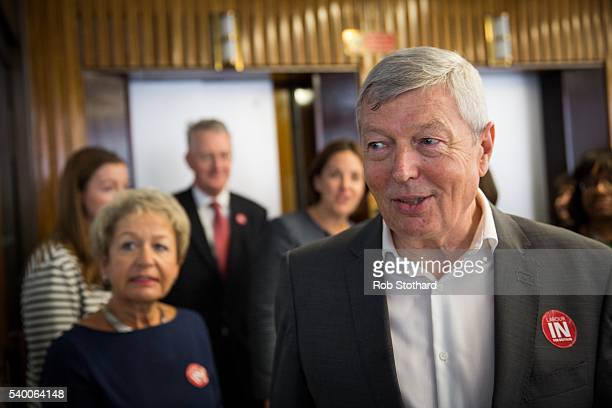 Alan Johnson MP arrives at a Labour In for Britain event at the TUC Congress Hall on June 14 2016 in London England Labour In for Britain are...