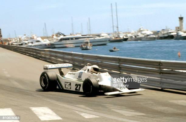 Alan Jones driving a Williams FW07 at Monaco GP