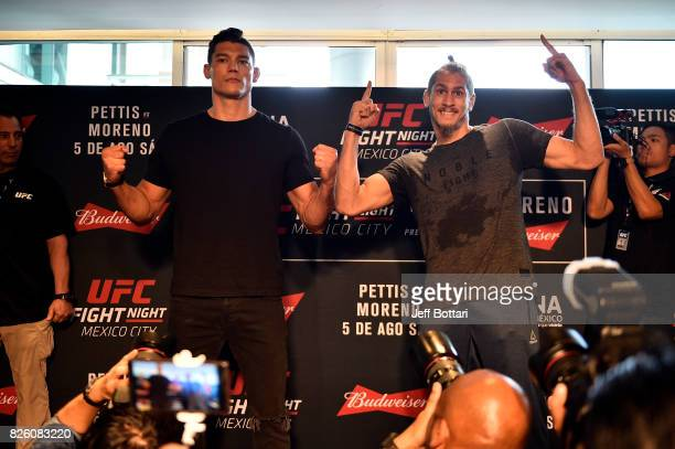 Alan Jouban and Niko Price pose for the media during the UFC Ultimate Media Day at the W Hotel on August 3 2017 in Mexico City Mexico