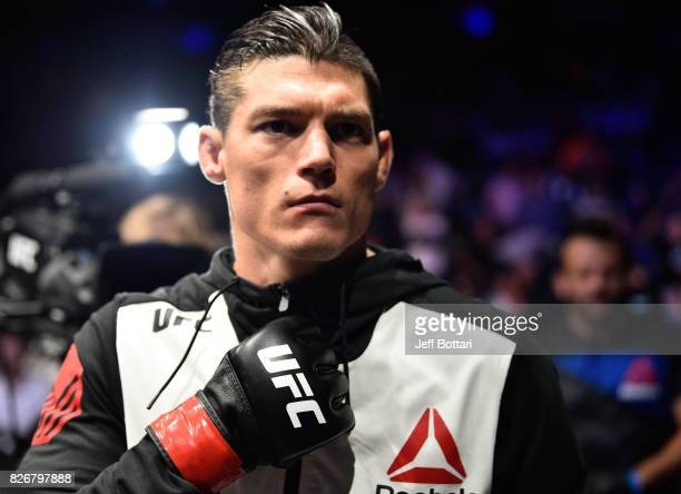Alan Jouban prepares to enter the Octagon before facing Niko Price in their welterweight bout during the UFC Fight Night event at Arena Ciudad de...