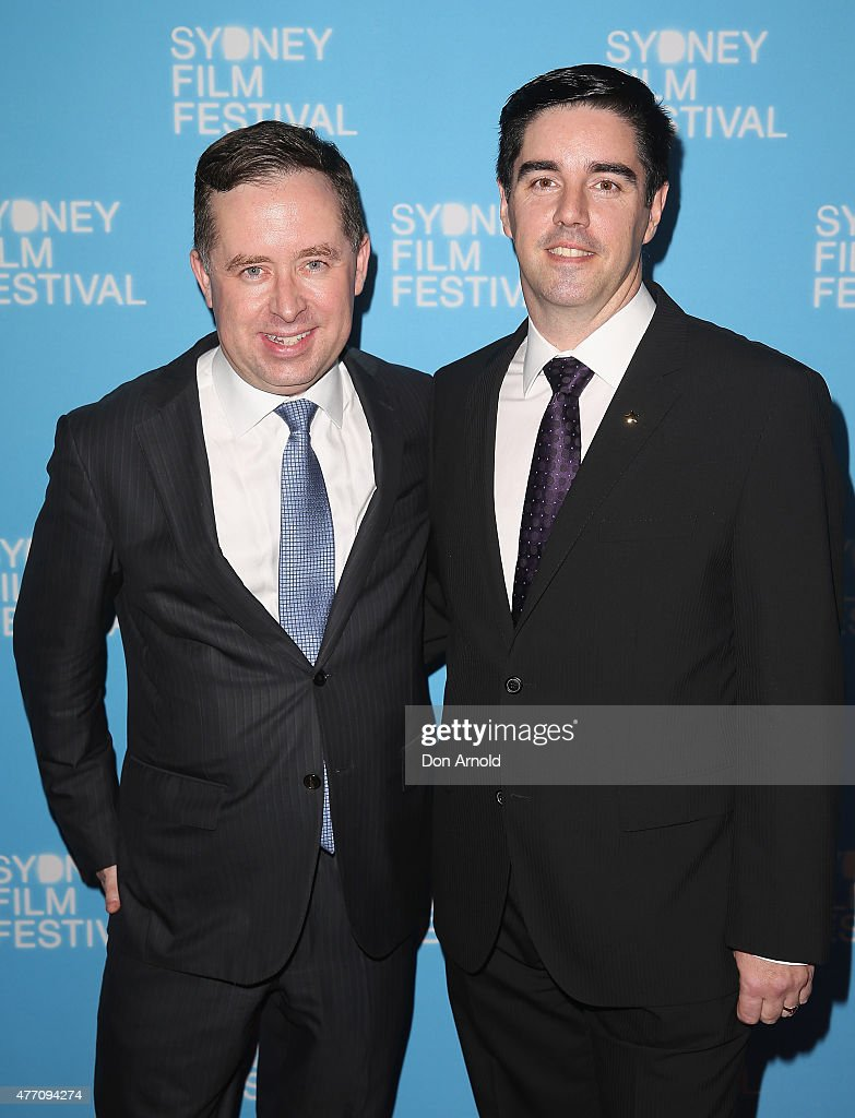 Alan Joyce and Shane Lloyd arrive at the 'Holding The Man' World Premiere during the Sydney Film Festival Closing Night Gala at the State Theatre on June 13, 2015 in Sydney, Australia.