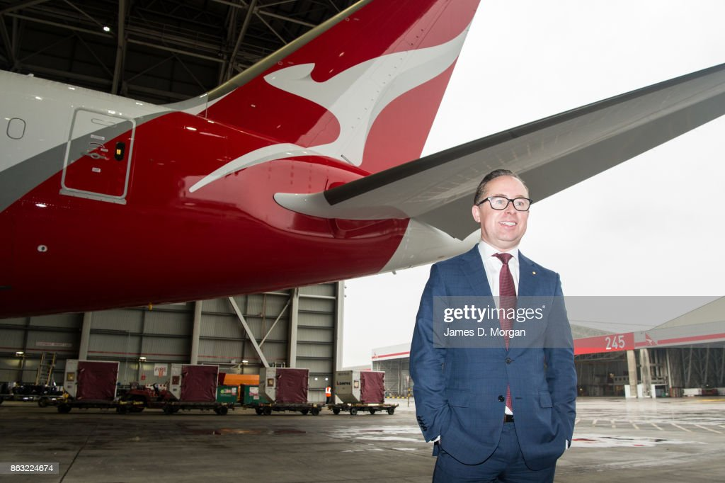 New Qantas Boeing 787 Dreamliner Lands In Sydney