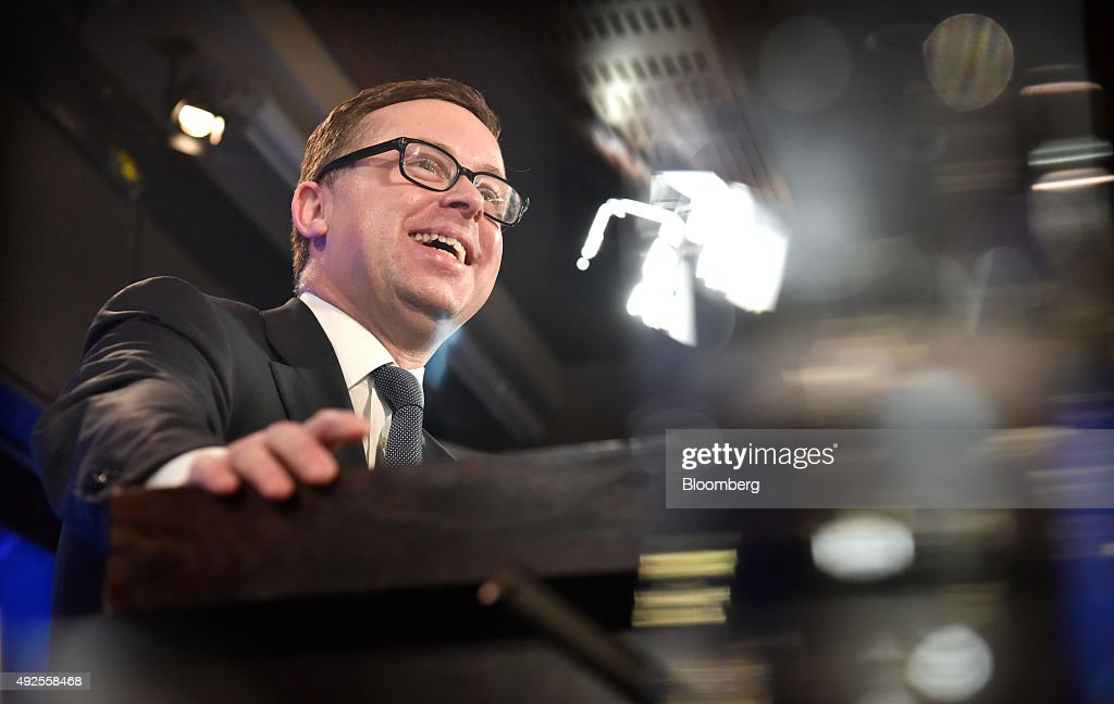 Alan Joyce, chief executive officer of Qantas Airways Ltd., speaks at the National Press Club in Canberra, Australia, on Wednesday, Oct. 14, 2015. Qantas in August posted its best profit result in seven years. Photographer: Mark Graham/Bloomberg via Getty Images