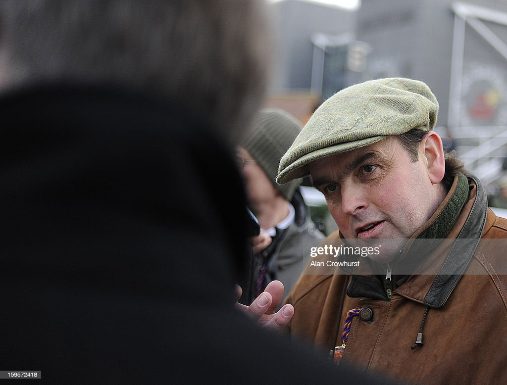 Alan King poses at Newbury racecourse on January 16, 2013 in Newbury, England.