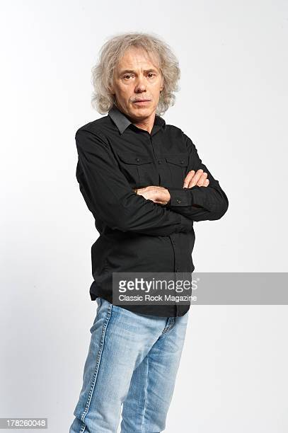 Alan Lancaster bassist and vocalist of English rock band Status Quo photographed during a portrait shoot for Classic Rock Magazine November 13 2012