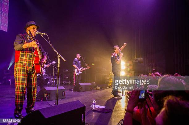 Alan Longmuir and Les McKeown of the Bay City Rollers perform on stage at the Eventim Apollo Hammersmith London 14th December 2016