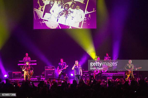 Alan Longmuir Les McKeown and Stuart John Wood of The Bay City Rollers perform at Eventim Apollo on December 14 2016 in London England