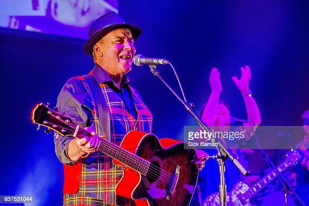 Alan Longmuir of the Bay City Rollers performs on stage at the Eventim Apollo Hammersmith London 14th December 2016