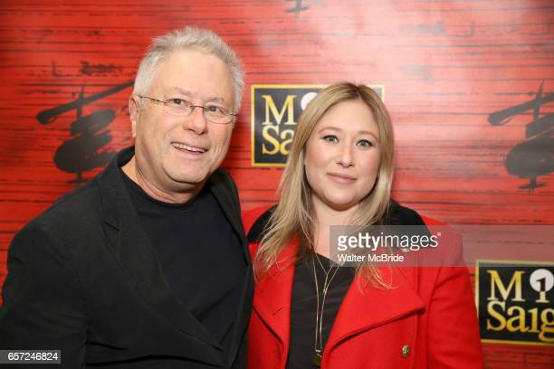 Alan Menken and Anna Menken attend The Opening Night of the New Broadway Production of 'Miss Saigon' at the Broadway Theatre on March 23 2017 in New...