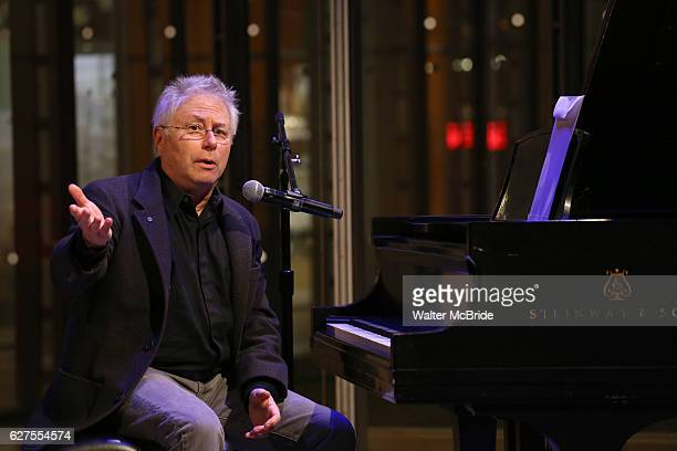 Alan Menken performing at The Dramatists Guild Fund presents 'The Legacy Project Volume III' screening at The Time Center on December 3 2016 in New...