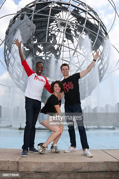 Alan Mingo Jr Mia Gentile and Ross Lekites from the cast of 'Kinky Boots' attend 2016 Broadway In The Boros at Flushing Meadows Corona Park on July...