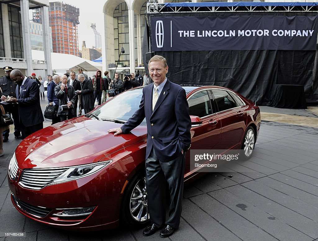 <a gi-track='captionPersonalityLinkClicked' href=/galleries/search?phrase=Alan+Mulally+-+Businessman&family=editorial&specificpeople=226958 ng-click='$event.stopPropagation()'>Alan Mulally</a>, president and chief executive officer of Ford Motor Co., stands for a photograph during the unveiling of the Lincoln MKZ vehicle in New York, U.S., on Monday, Dec. 3, 2012. Ford Motor Co., seeking to revive sales of Lincoln vehicles, is fielding the brand's first Super Bowl spot as well as a television commercial that portrays the U.S. president who gave the luxury line its name. Photographer: Peter Foley/Bloomberg via Getty Images